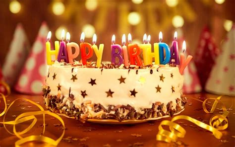 wallpapers happy birthday  birthday cake candles party evening cakes  dnem