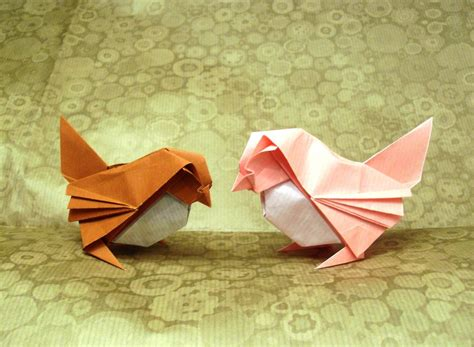 How To Make An Origami Sparrow - origami sparrows by orestigami on deviantart