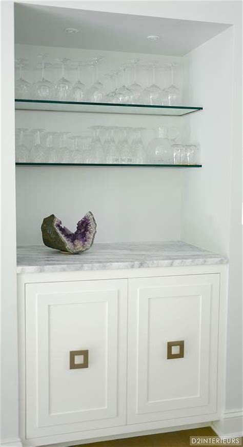 Nook Shelf by Bar Nook With Stacked Glass Shelves