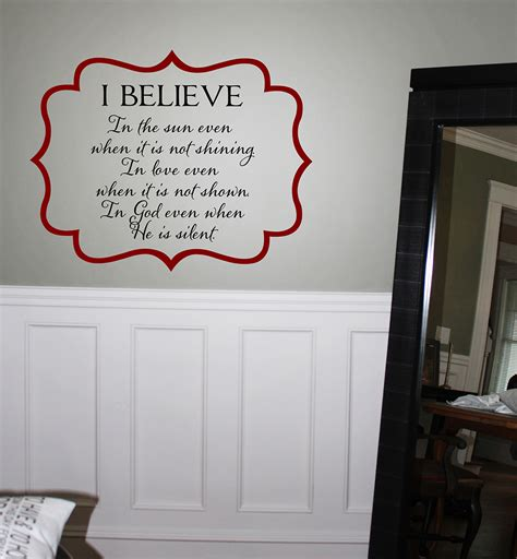 i believe wall decal trading phrases