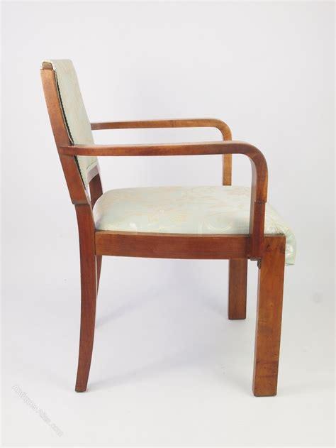 deco walnut armchair desk tub chair antiques atlas