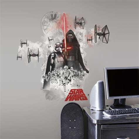 wars wall stickers new wars the awakens villains wall decals stickers room decor ebay