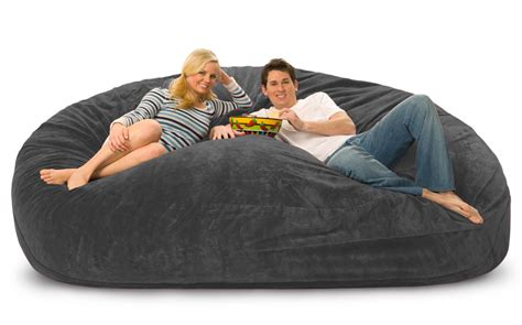 fombag vs lovesac 8 foot mojobagz foam filled bean bag chair ms 8dm