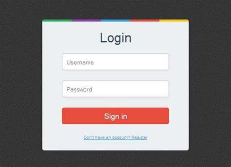 33 best free css html login form templates design