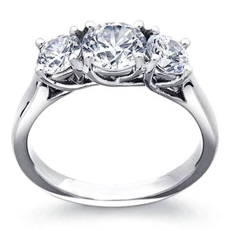 Trellis Ring Setting trellis solitaire engagement ring in platinum