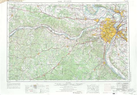 physical map of missouri st louis topographic maps mo il usgs topo 38090a1