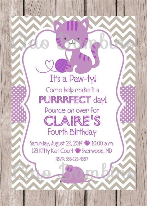 Cat Themed Wedding Invites by Printable Kitten Invitation Orderecigsjuice Info