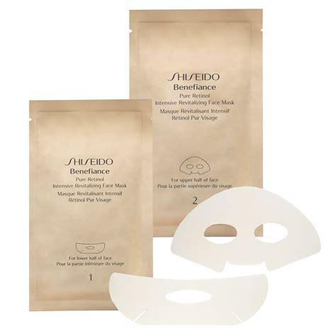 shiseido benefiance retinol intensive revitalising mask x 4 sachets free shipping