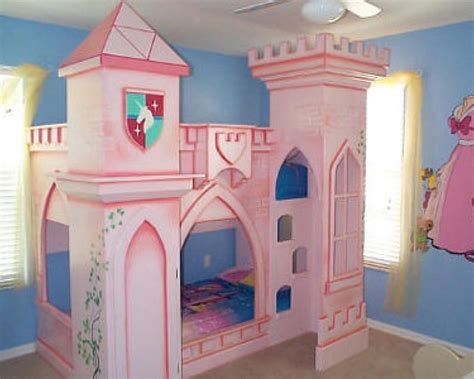 Kids room favorable little girls princess pink bedroom interior ideas with purple painted wall