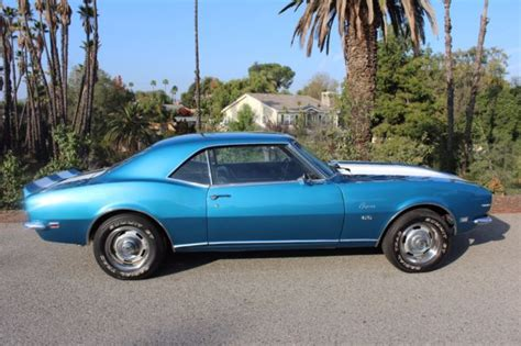 1968 blue camaro 1968 chevy camaro rs ss big block 396 lemans blue cali car