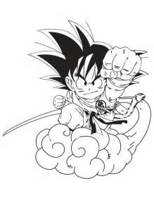 free coloring pages dragon ball gt goku