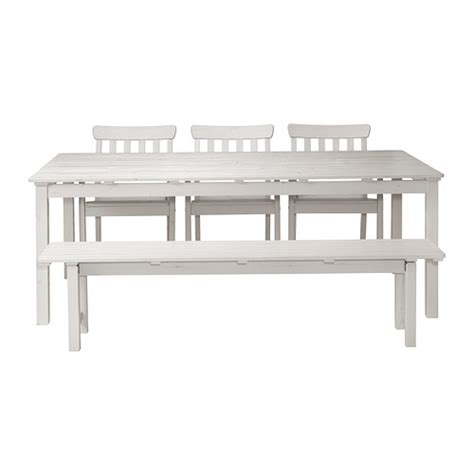 white dining bench 196 ngs 214 table 3 armchairs bench outdoor ikea