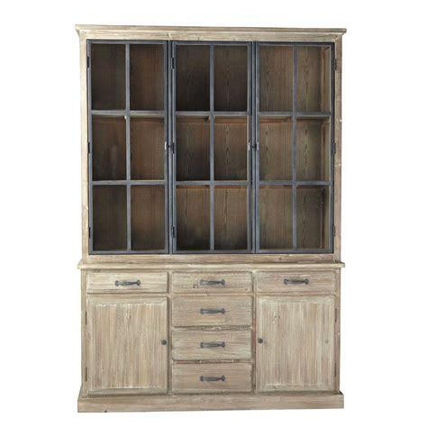 recycled wood china cabinet w 152cm copenhague maisons