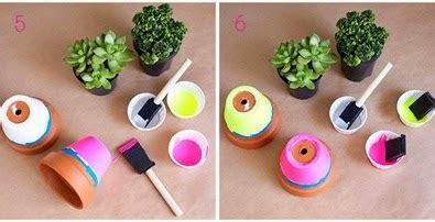Pot Plastik Warna Warni kerajinan tangan cara membuat kerajinan tangan pot warna