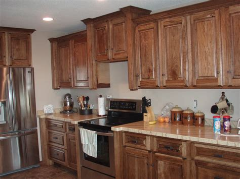 Hickory Kitchen Cabinet Kitchen Colors Hickory Cabinets Gnewsinfo