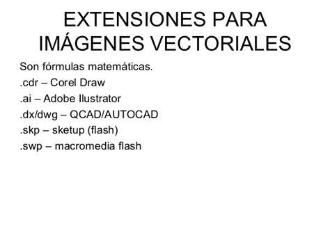 imagenes vectoriales extensiones introducci 243 n a la imagen digital