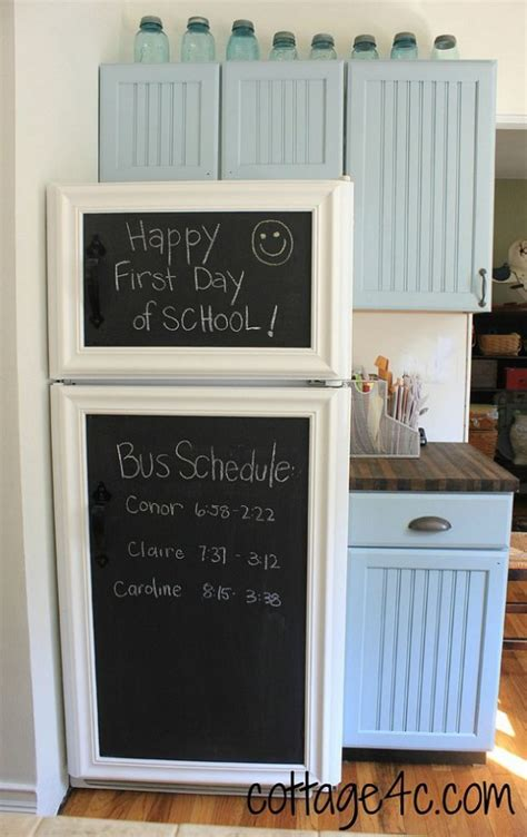 chalkboard painting refrigerator diy appliances makeover ideas for a fancy home