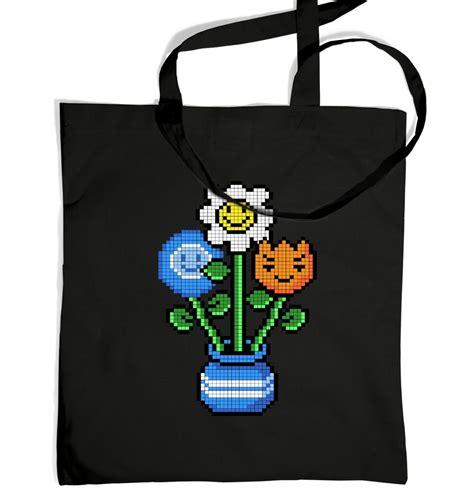 Bouquet Bag 8 bit bouquet tote bag somethinggeeky