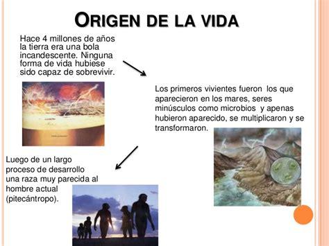 la historia y el ser humano evolucion ser humano origen de la vida