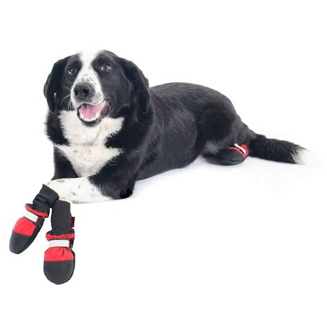 boots for dogs muttluks fleece lined boots large ebay