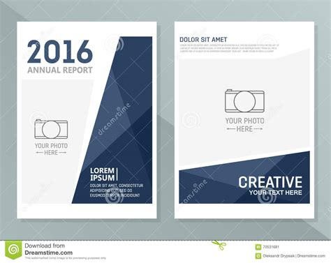 vector annual report design templates business brochure