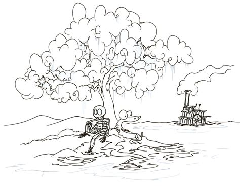 coloring page of a river river printable coloring pages