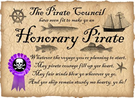 pirate certificate template honorary pirate certificate no name needed rooftop
