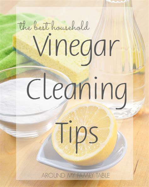 cleaning ideas vinegar cleaning tips around my family table