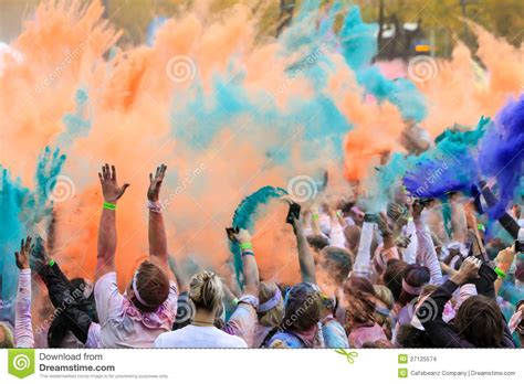 the color run chicago chicago color run editorial stock image image 27125574