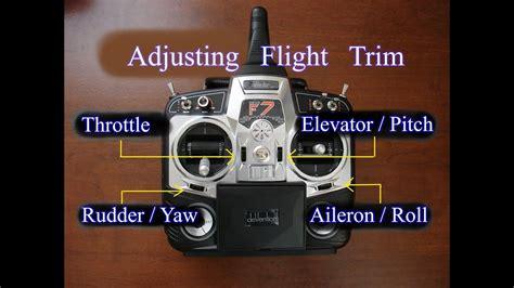 adjusting transmitter flight trim  multirotors