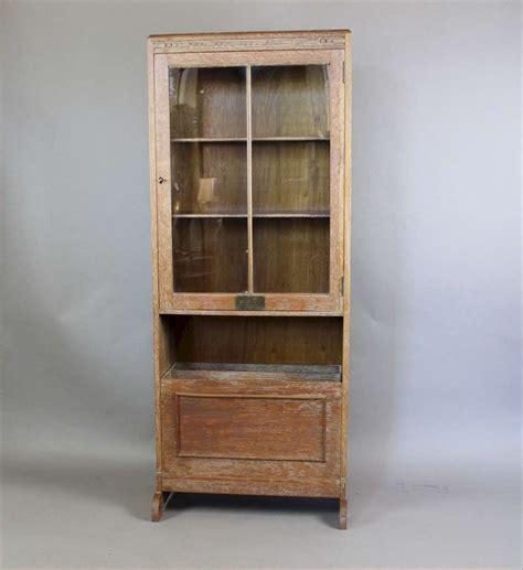 1930 S Limed Oak Glazed Bookcase With Interesting Fall Magazine Holders For Bookshelves