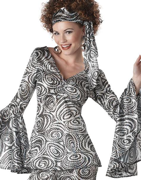 foxy lady disco costume womens womens retro 70 s disco foxy lady adult plus size hippie