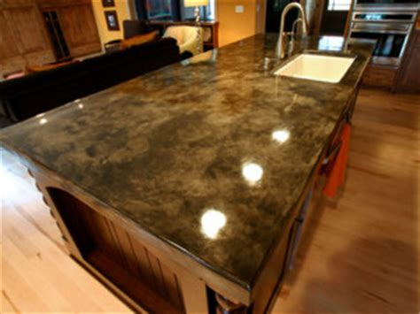 Acid Staining Concrete Countertops by Concrete Countertop Sting And Staining Options