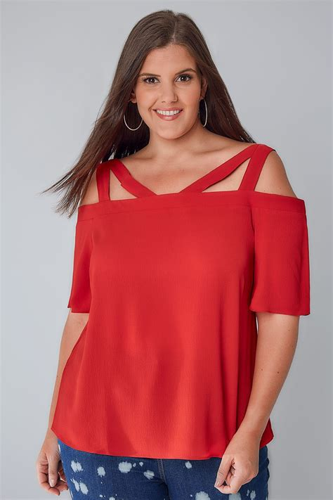 Limited Top limited collection strappy bardot top plus size 16 to 32