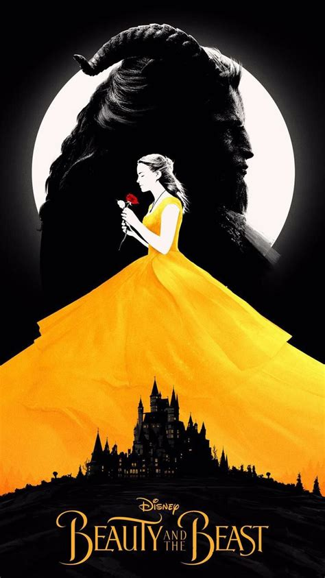 theme line beauty and the beast beauty and the beast minimalist poster disney magical