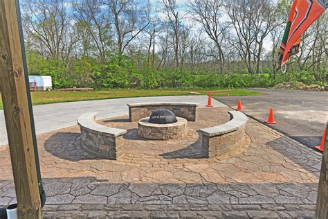 pit pavers seatwalls pit paver patio waynesville oh 171 patio