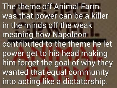 quotes on themes in animal farm quotes about animal farm dictatorship quotesgram