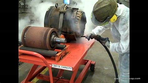 steam clean motor mass transportation electric motor cleaning with a
