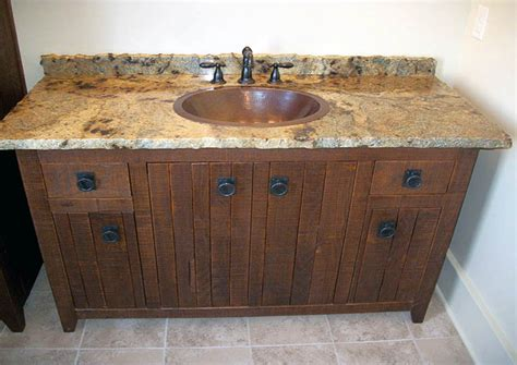 Wood Top Bathroom Vanity 30 Exles Of The Reclaimed Wood Vanity