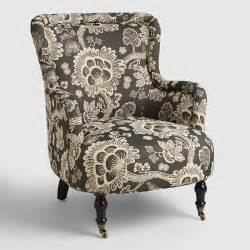 Patterned Chair And A Half Design Ideas Black And White Floral Reading Chair World Market