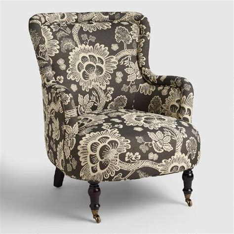 black and white patterned chair black and white floral reading chair world market