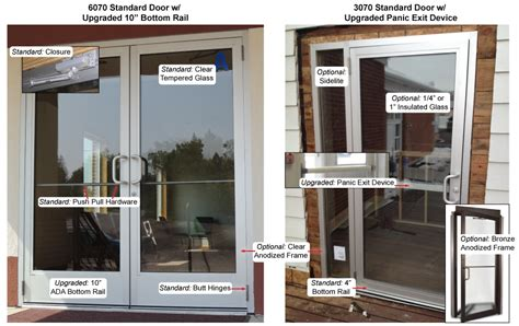 used shop front doors commercial glass storefront door options and features