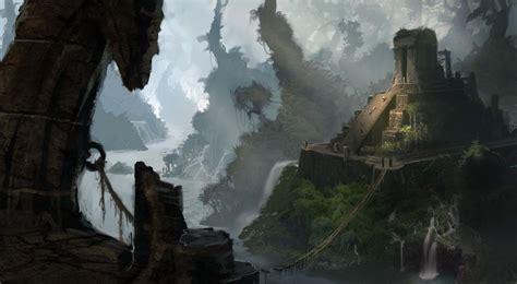 jungle ruins art  brandon