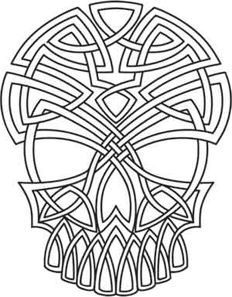 celtic skull urban threads unique and awesome