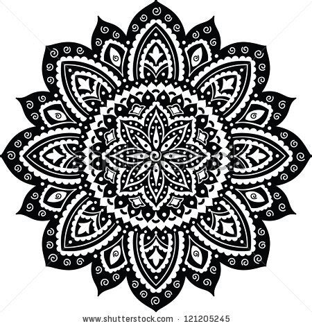 mandala tattoo white black indian ornament mandala tacos pinterest black