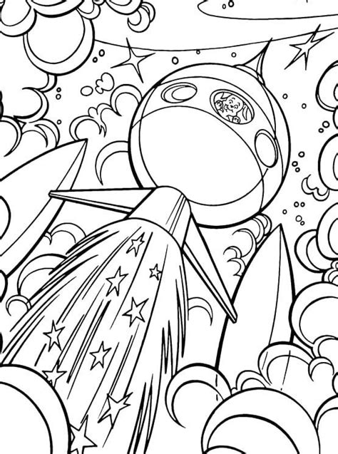 krypto the dog go into outer space coloring pages krypto