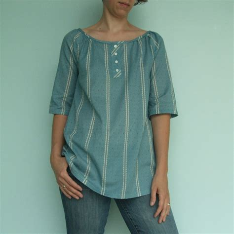 Easy Sleeve Blouse Pattern by Simple Modern Sewing Raglan Sleeve Top Modified To Be