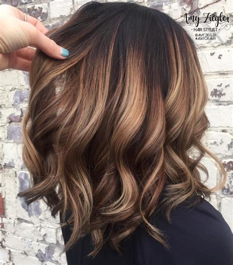 caramel hair color gray coverage 60 fun and flattering medium hairstyles for women