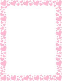Wedding Agenda Templates Printable Pink Heart Border Free Gif Jpg Pdf And Png Downloads At Http Pageborders Org