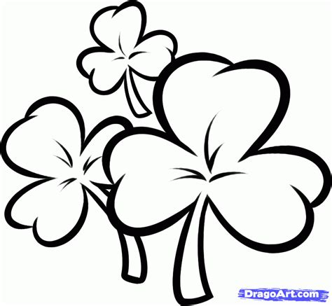 clover color how to draw clovers step by step st patricks day